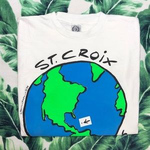 Vintage 1988 Earth T Shirt Planet Globe Animal Tee